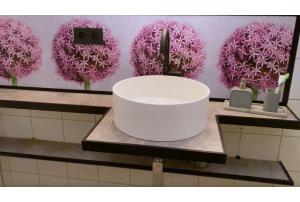 Lifehack - Küchenrückwand im Bad