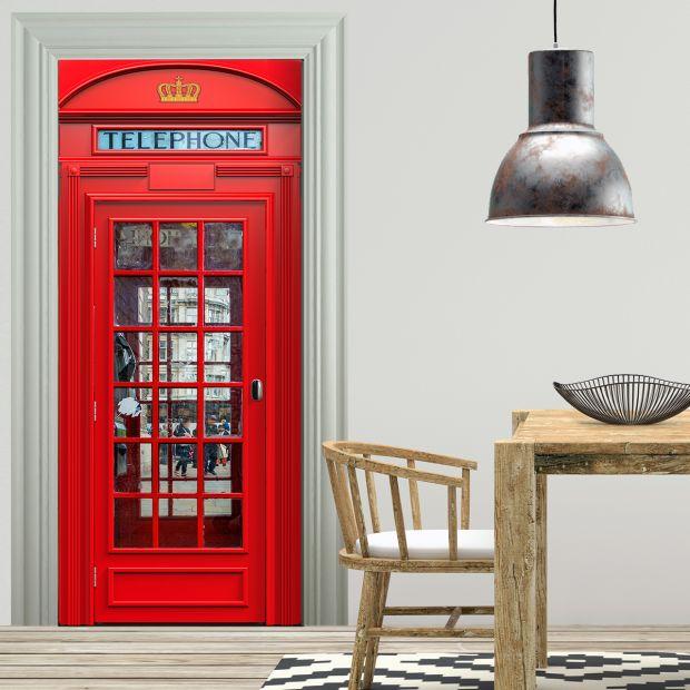 Türtapete - LONDON TELEFONZELLE