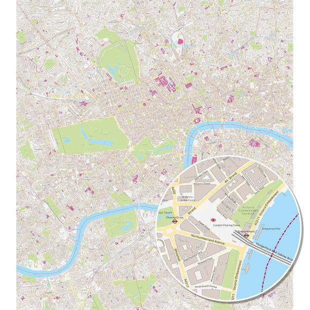 Tapete - LONDON KARTE
