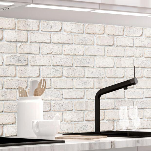 Küchenrückwand - GEKALKTE WAND