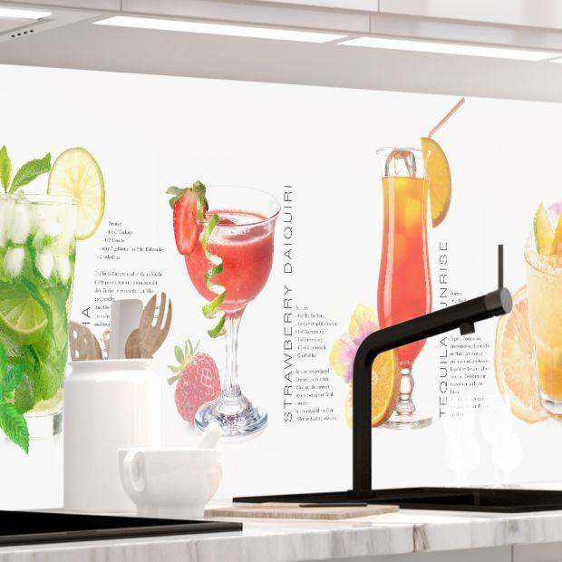 Küchenrückwand - SUMMER DRINKS