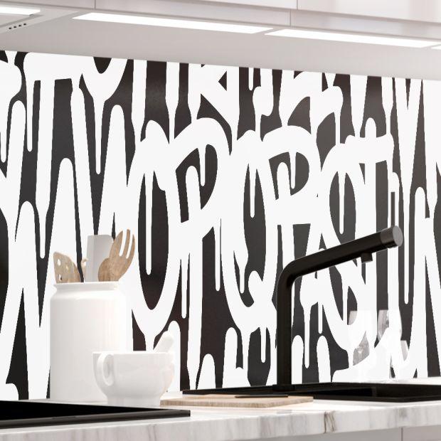 Küchenrückwand - LETTERS