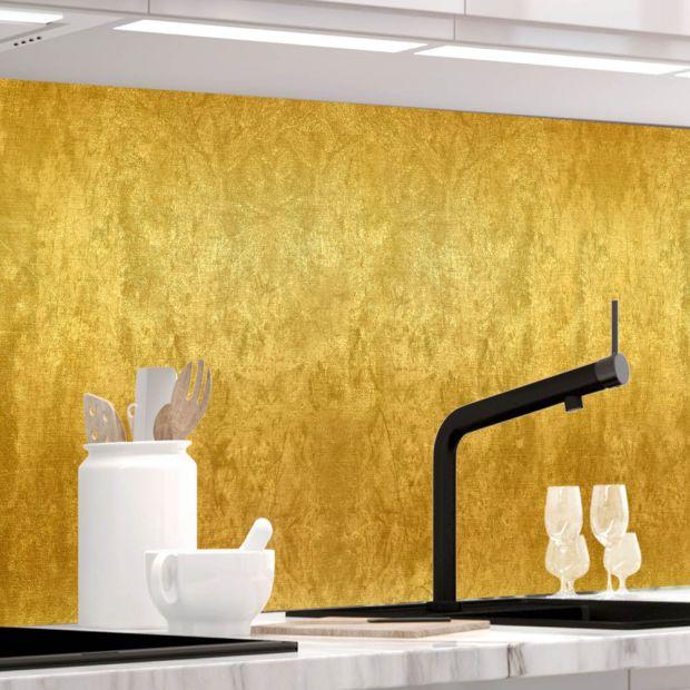 Küchenrückwand - ABSTRAKTES GOLD