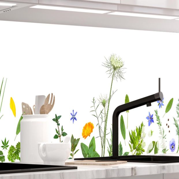Küchenrückwand - SELECTED HERBS