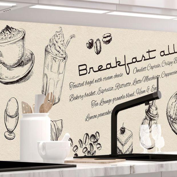 Küchenrückwand - BREAKFAST