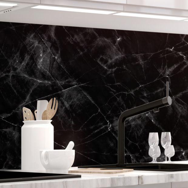 Küchenrückwand - MARMOR BLACK