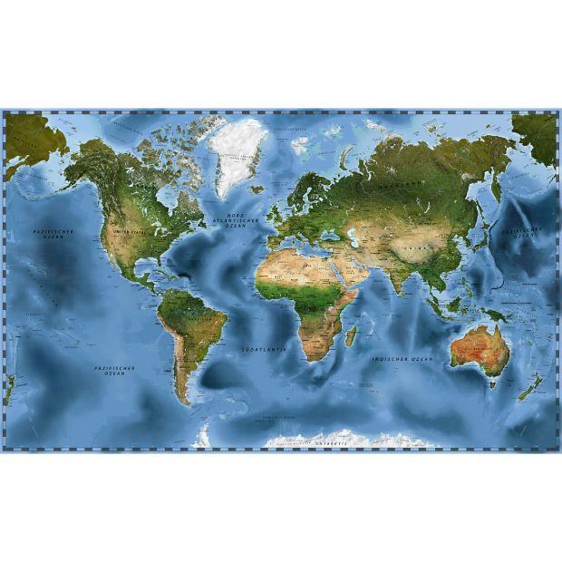 Weltkarte - REALISTISCH
