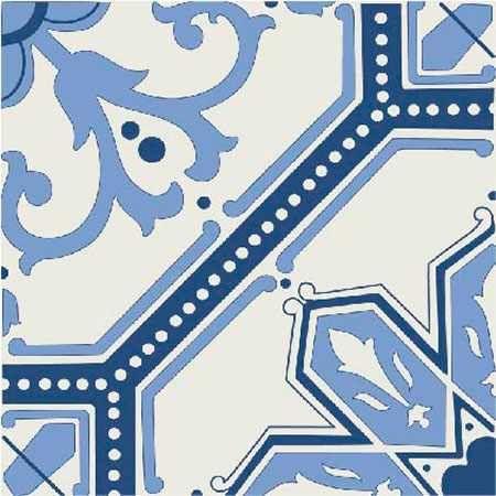 6 Fliesenaufkleber - Art Deco - No.09