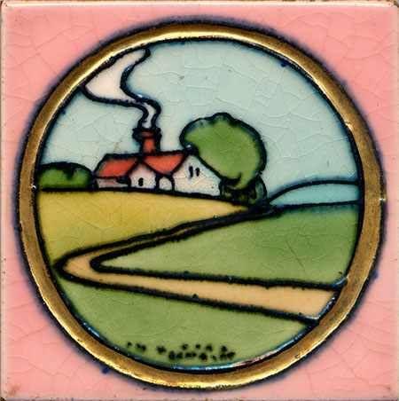 6 Fliesenaufkleber - Art Deco - No.05