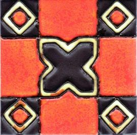 6 Fliesenaufkleber - Art Deco - No.22
