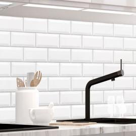 Küchenrückwand - WEISSE KACHELN