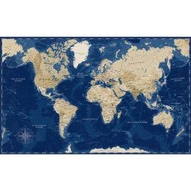 Weltkarte - OZEANBLAU